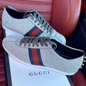 1d7f26053df Gucci Glitter Web sneaker with studs Size 9 men